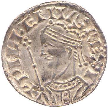 Obverse of silver penny of William I the Conqueror, by Garwig at Lincoln, Fitzwilliam Museum CM.802-2001, William Conte Collection