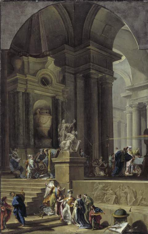 Painting by Pittoni An Allegorical Monument to Sir Isaac Newton